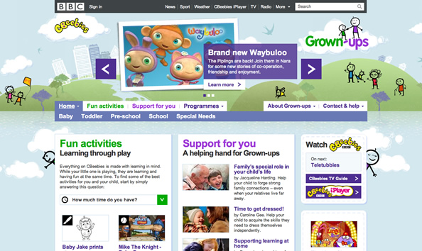 BBC CBeebies Grownups