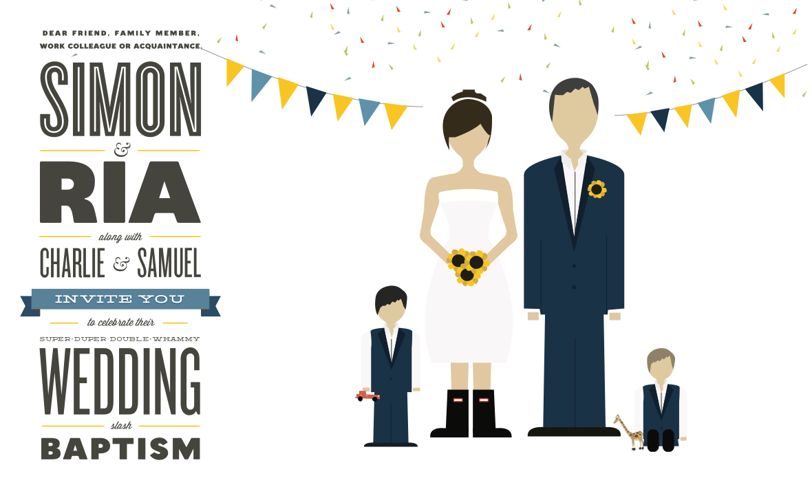 Simon & Ria's Wedding Invitation